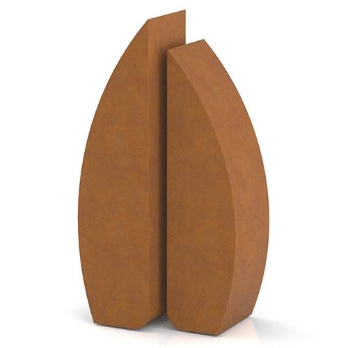 Cortenstaal urnen