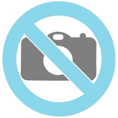 Poes zittend rechtop urn zilvertin